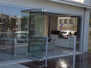 Frameless Glass Bi Fold