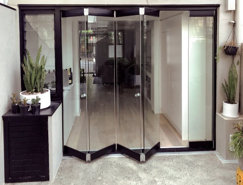 Compact Frameless Glass Bifolds - Outback Doors Australia (3)
