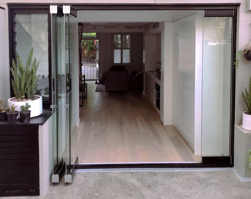 Compact Frameless Glass Bifolds - Outback Doors Australia (4)