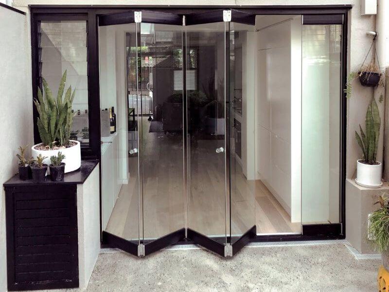 Compact Frameless Glass Bifolds - Outback Doors